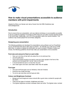 How to make visual presentations accessible to audience members