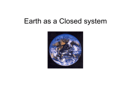 Earth as a Closed system