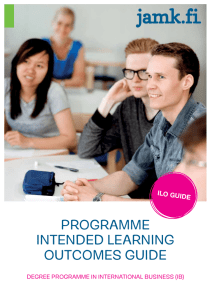 Programme Intended LearnIng outcomes guIde