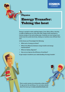 Energy Transfer: Taking the heat