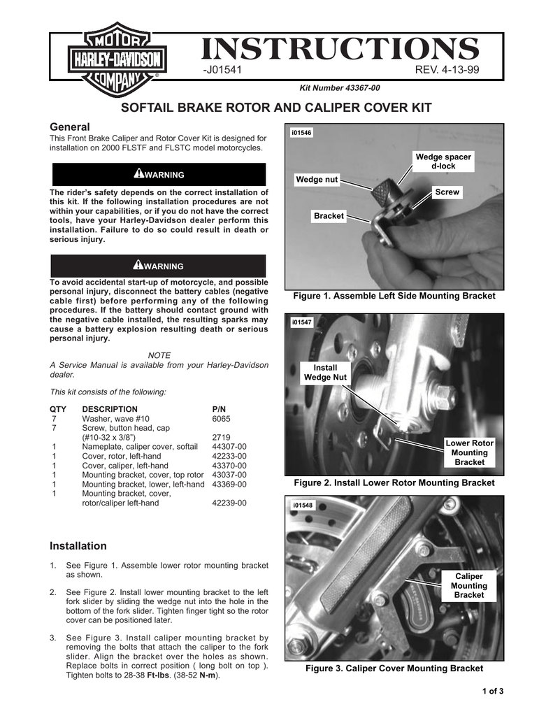 instructions - Harley
