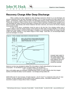 Recovery Charge After Deep Discharge