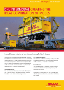 DHL INTERMODAL CREATING THE IDEAL COMBINATION OF
