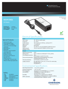 Electrical Specifications Environmental Specifications - Digi-Key