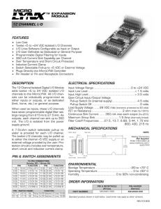 Datasheet for Specifications