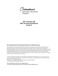 AP® Calculus AB 2007 Scoring Guidelines Form B