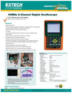 60MHz 2-Channel Digital Oscilloscope