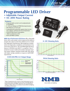 Programmable LED Driver - NMB Technologies Corporation
