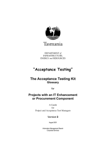 Acceptance Testing: Acceptance Test Kit Glossary
