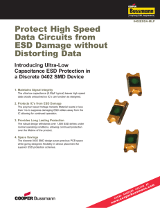 Protect High Speed Data Circuits from ESD Damage without