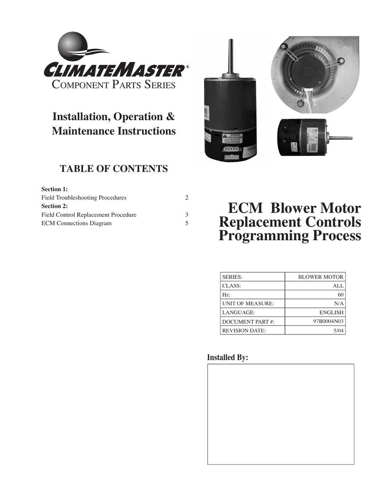ECM Blower Motor  Replacement