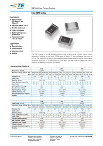 SMD High Precision Resistor - Type RN73 Series
