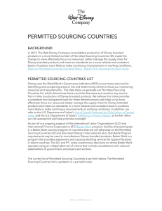 Permitted Sourcing Countries Policy