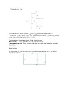 Chapter 2  - DC Biasing - BJTs - VTU e