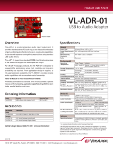 VL-ADR-01 Data Sheet