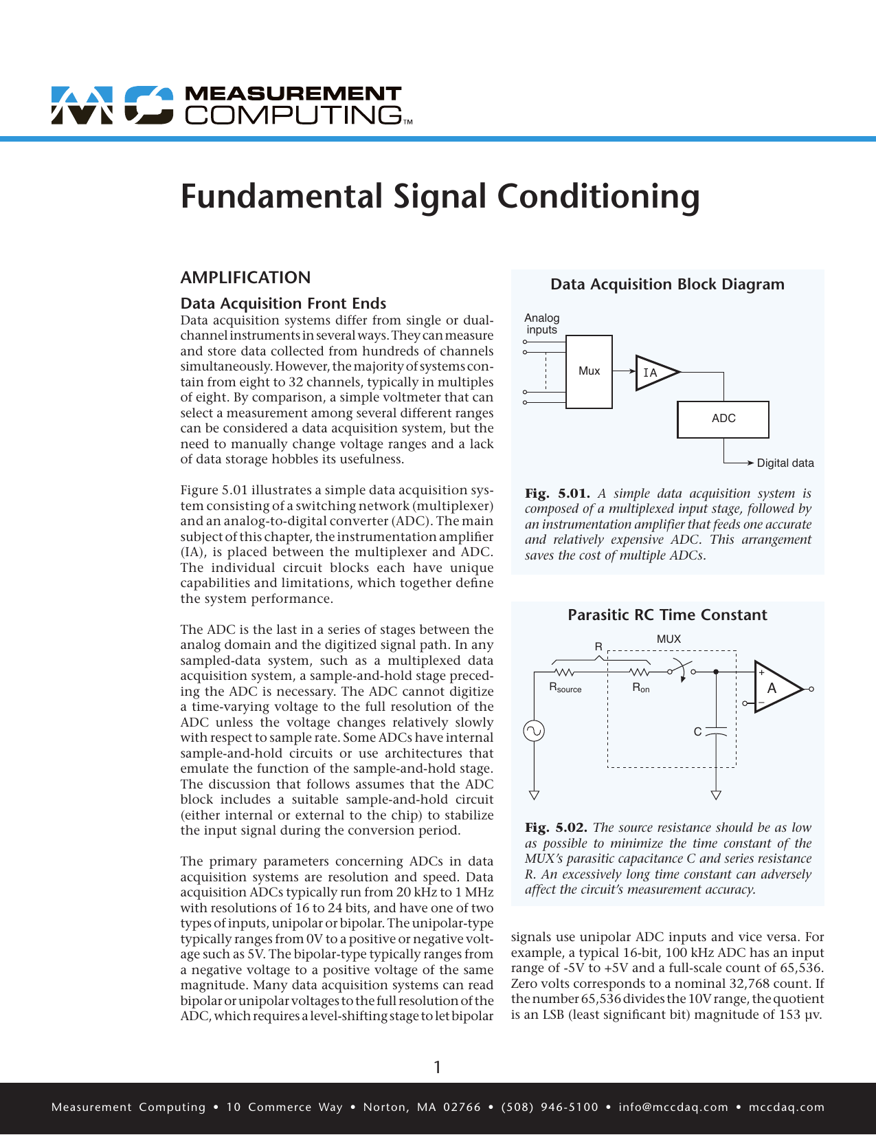 fundamental signal conditioning  signal conditioning for high impedance