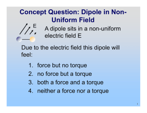 Concept Question: Dipole in Non