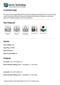 Server Technology Datasheet C