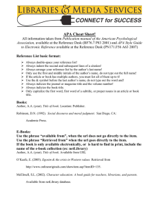APA Cheat Sheet!