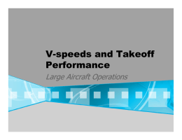 V-speeds and Takeoff Performance