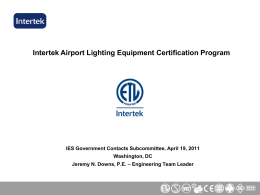 Intertek Airport Lighting Equipment Certification Program