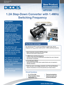 1.2A Step-Down Converter with 1.4MHz Switching Frequency