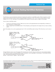 Bench Testing Hall Effect Switches