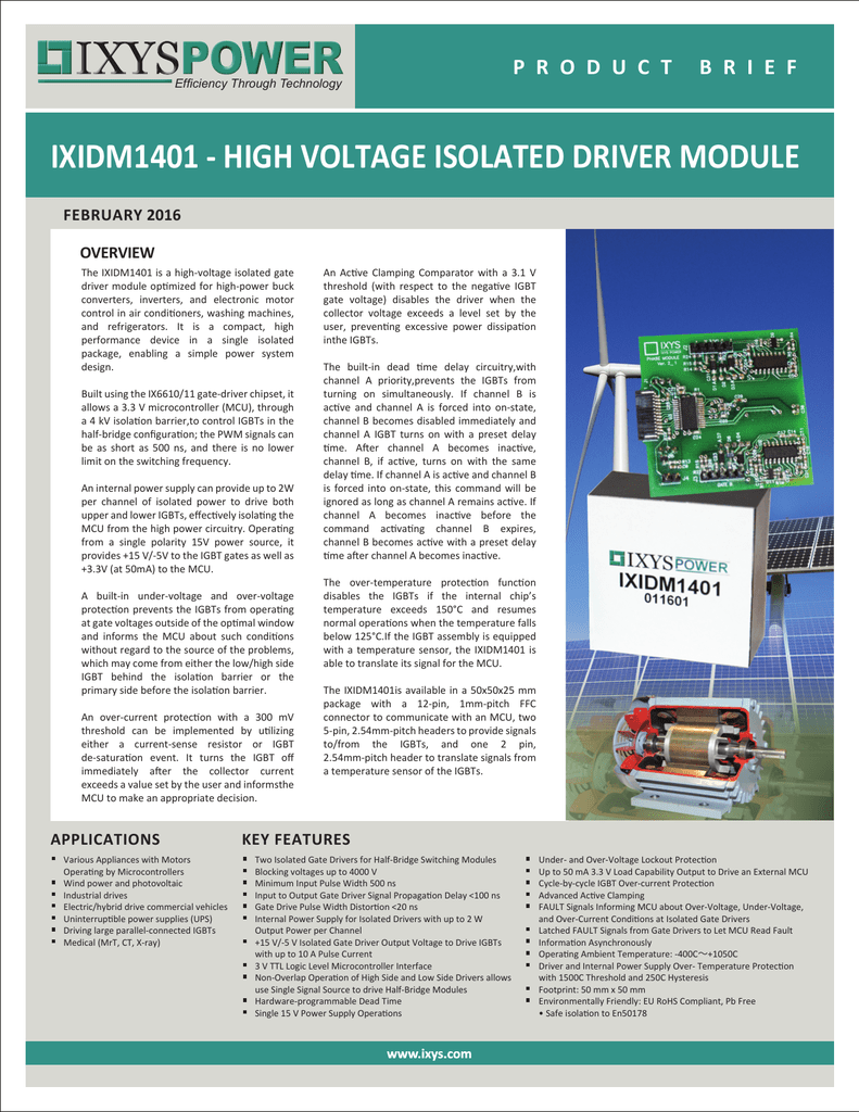High Voltage Isolated Driver Module 5v Power Supply With Overvoltage Protection