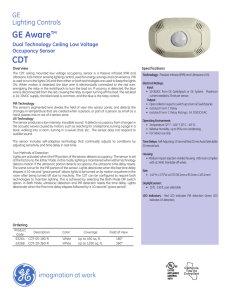 GE Aware™ Dual Technology Ceiling Low Voltage