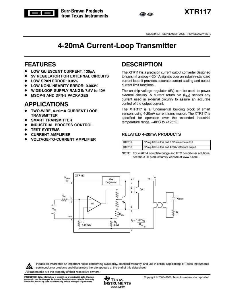 4 20ma Current Loop Transmitter Rev C Circuit Diagram