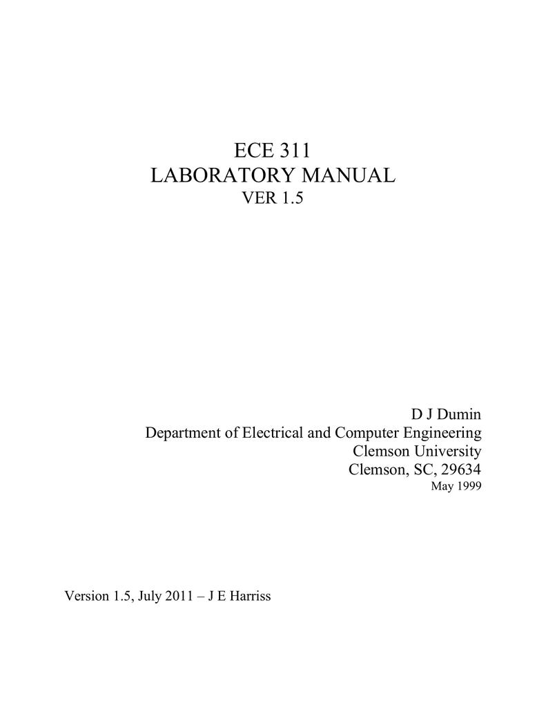 Ece 311 Laboratory Manual Circuitlab Phase Shift Delay