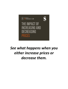 See what happens when you either increase prices or decrease them.