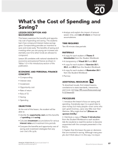 What`s the Cost of Spending and Saving