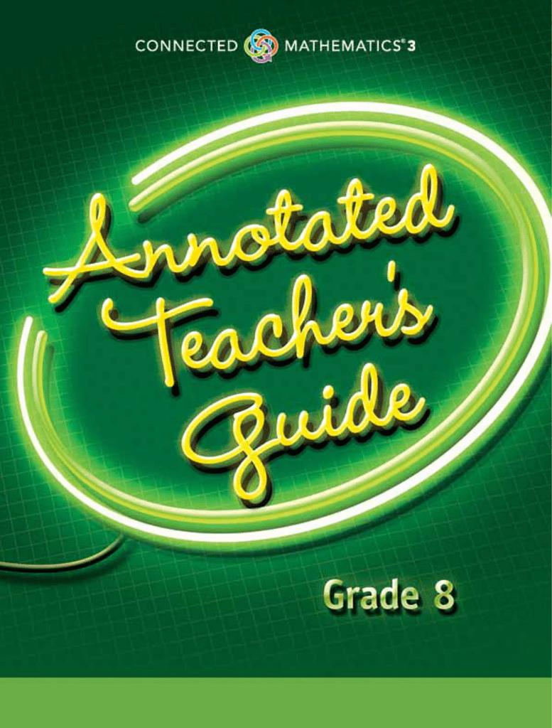 CMP3 Grade 8 Annotated Teacher Guide