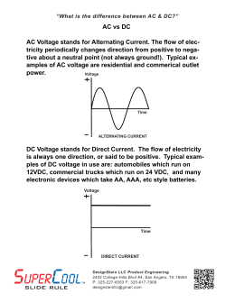 AC vs DC AC Voltage stands for Alternating Current. The flow of elec