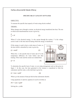 Questions For Specific Heat Capacity Lab Questions