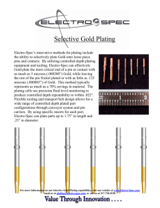 Selective Gold Plating - Electro-Spec