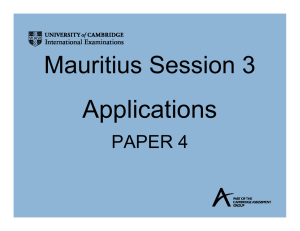 Applications Paper 4