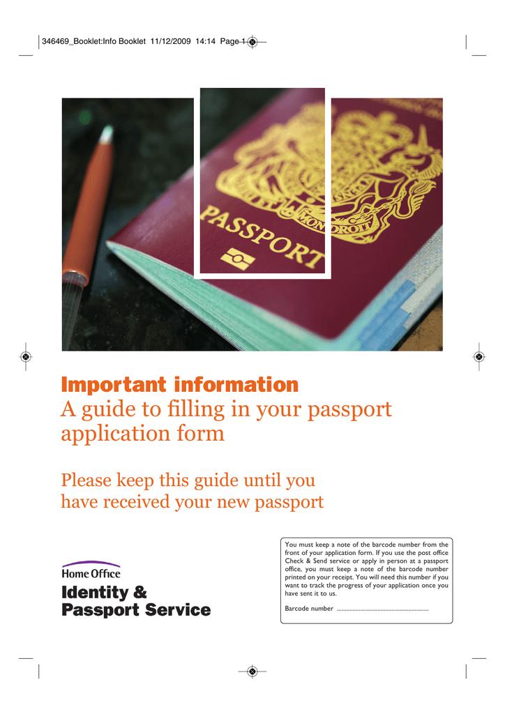 Passport Application Guidance Booklet