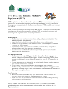 Tool Box Talk: Personal Protective Equipment (PPE)