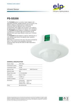 Datasheet  - Emergency Lighting Products Ltd