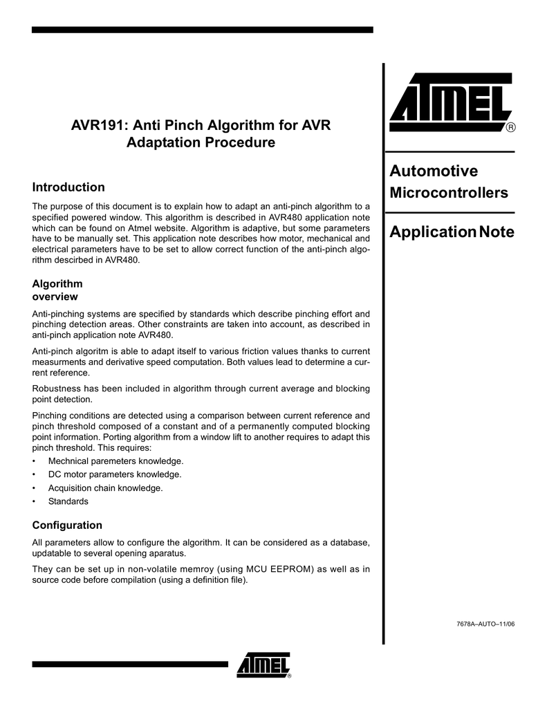 Automotive Application Note
