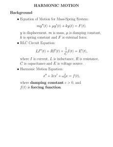 Equation of Motion for Mass