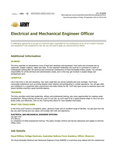 Electrical and Mechanical Engineer Officer