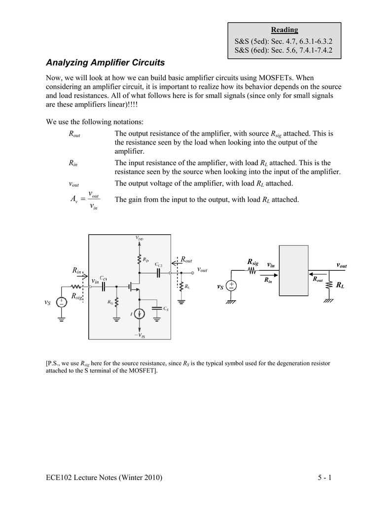 Mosfet Amplifier Configurations Circuits