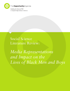 Media Representations and Impact on the Lives of Black Men and