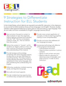 9 Strategies to Differentiate Instruction for ELL Students