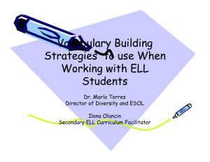 SIOP Vocabulary Strategies To Use When Working With ELL