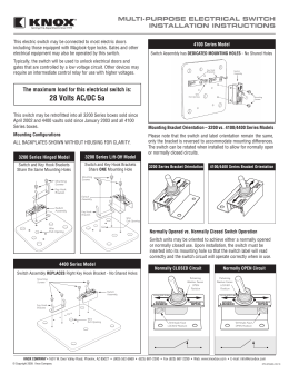 mounting instructions knox knox box 3b wiring-diagram multi purpose electrical switch
