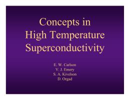 Concepts in High Temperature Superconductivity